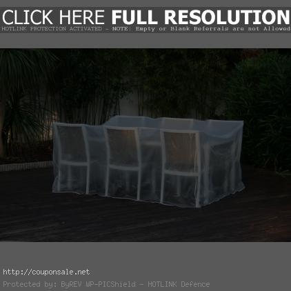 bache pour table de jardin