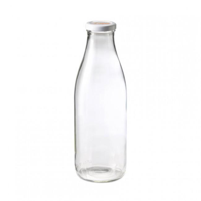 bouteille en verre avec bouchon