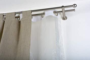 double tringle à rideaux