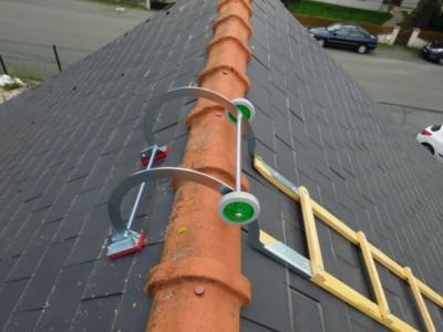 echelle plate de toit