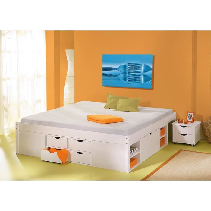 lit 2 personnes avec rangement