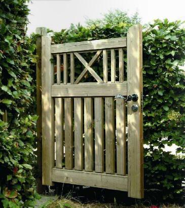 Portillon de jardin en bois spartakiev - Portillon jardin bois ...