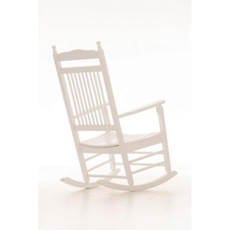 rocking chair blanc