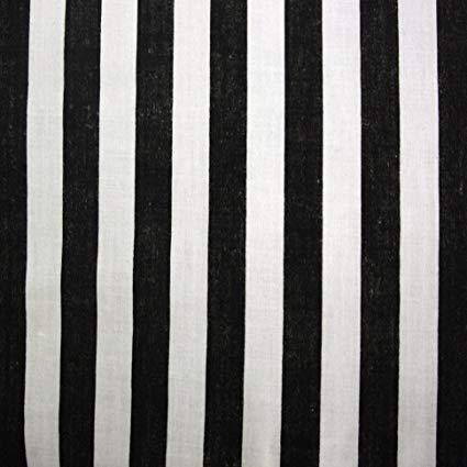 tissu rayé noir et blanc