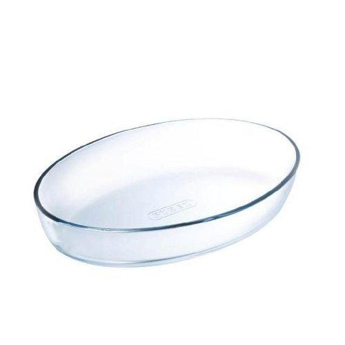 plat en verre au four