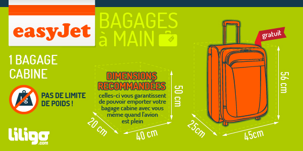poid bagage a main easyjet