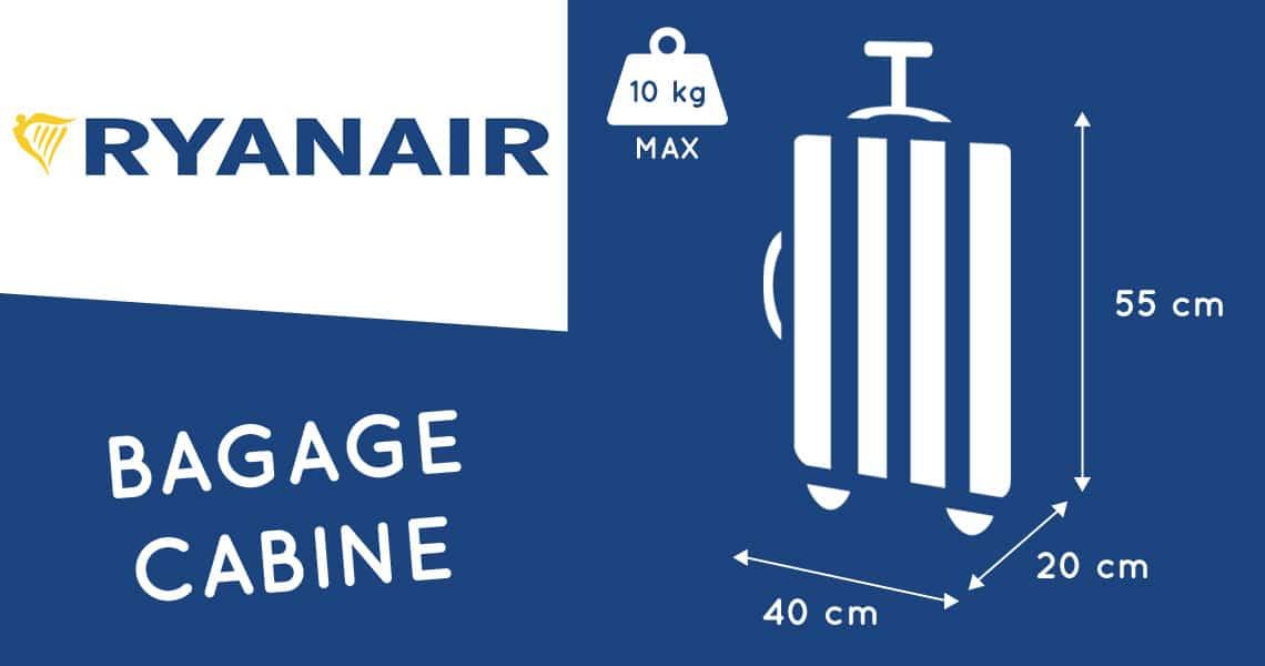 ryanair bagage cabine dimension