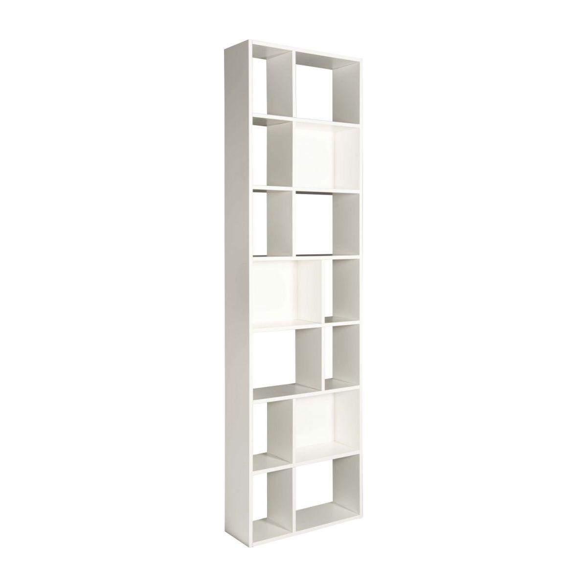 bibliothèque blanc laqué