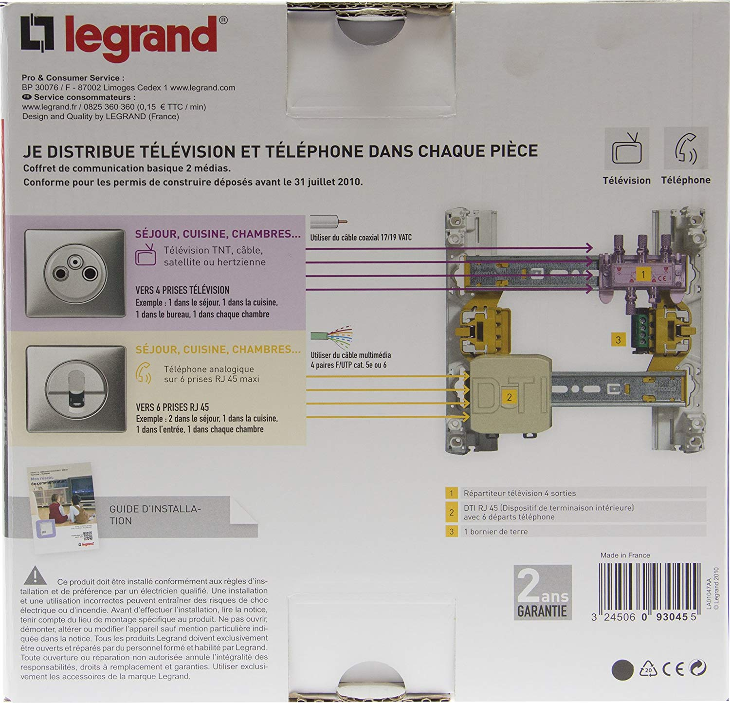 coffret communication legrand