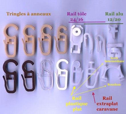 crochet rideau rail