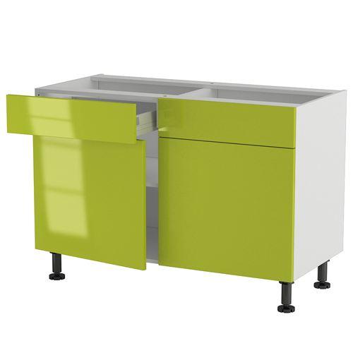 meuble bas cuisine 120 cm avec tiroir