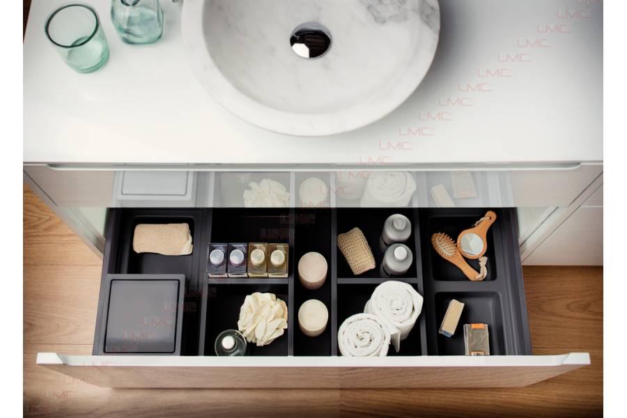 organisateur tiroir salle de bain