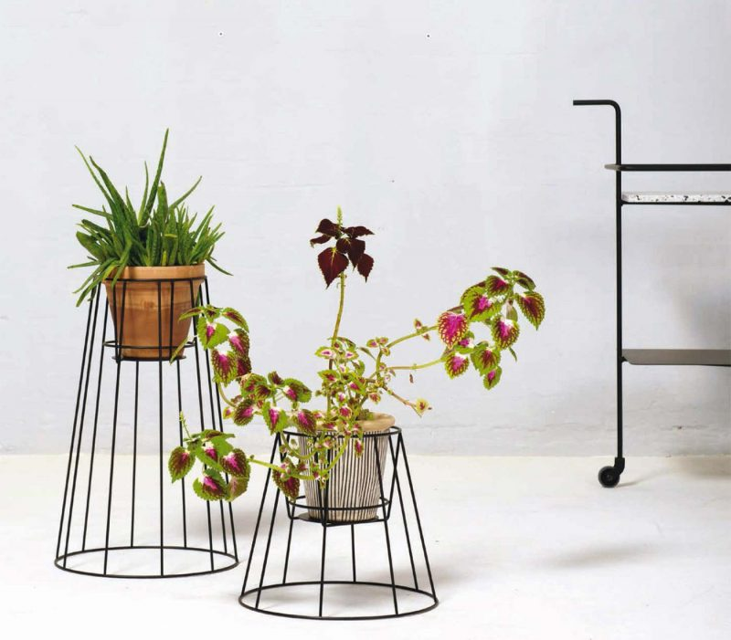 support pour plantes exterieur
