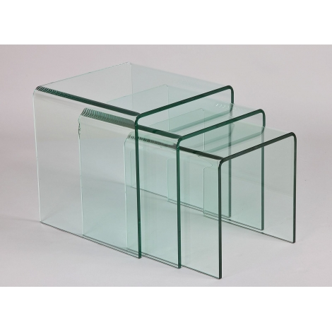 table gigogne en verre